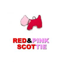 Charm Red and Pink Scottie