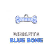 Charm Bone Blue Dimante