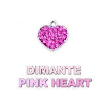 Charm Dimante Pink Heart