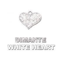 Charm Dimante White Heart