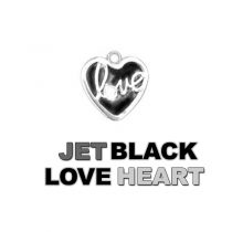Charm Jet Black Love Heart