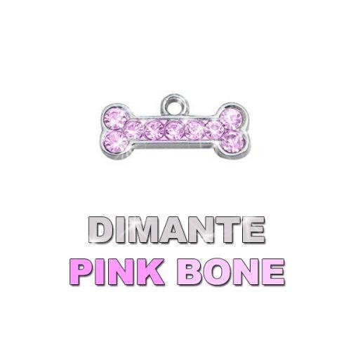Charm Bone Pink Dimante