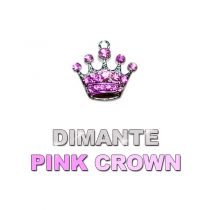 Charm Pink Dimante Crown