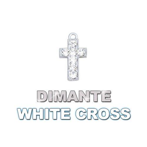Charm Dimante White Cross