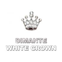 Charm White Dimante Crown