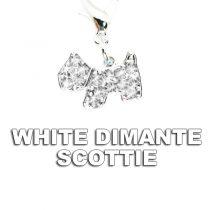 Charm White Dimante Scottie