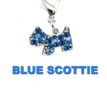 Charm Blue Diamante Scottie