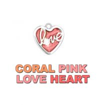 Charm Coral Pink Love Heart