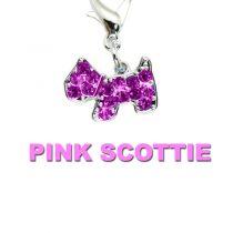 Charm Pink Dimante Scottie