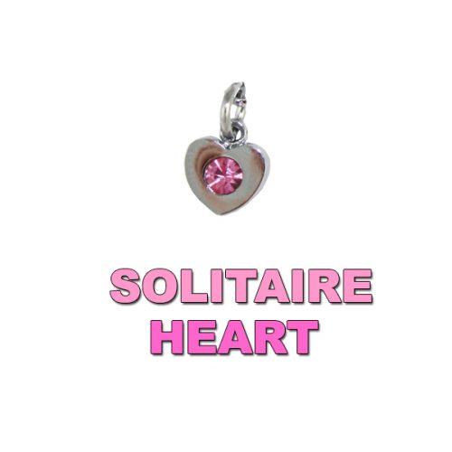 Charm Solitaire Pink Heart